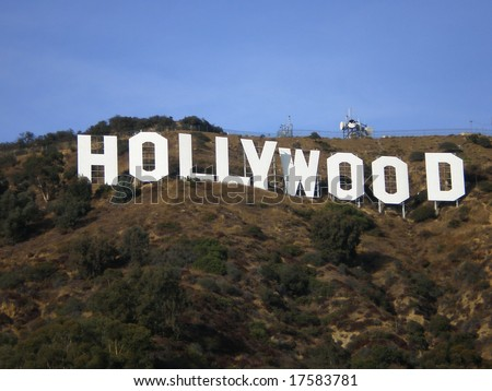 LOS ANGELES - CIRCA 1999: The Hollywood sign is shown on Mount Lee circa summer 1999 in Los Angeles. The sign was originally built in 1923 and has gone through many restorations in the Hollywood Hills area of LA. - stock photo
