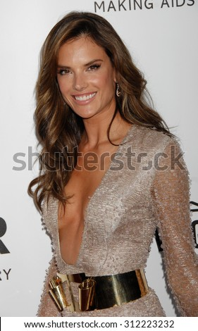 LOS ANGELES - DEC 12:  Alessandra Ambrosio arrives at the 4th Annual amfAR Inspiration Gala  on December 12, 2013 in Los Angeles, CA