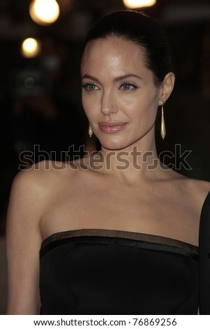 LOS ANGELES - DEC 8: Angelina Jolie at the premiere of 'The Curious Case of Benjamin Button' in Los Angeles, California on December 8, 2008. - stock photo