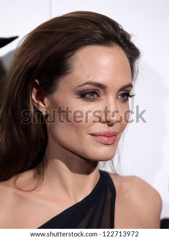 "LOS ANGELES - DEC 8:  Angelina Jolie ""In The Land of Blood and Honey"" Los Angeles Premiere  on December 08, 2011 in Hollywood, CA - stock photo"