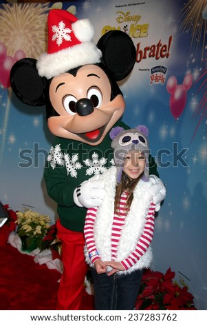 "LOS ANGELES - DEC 11:  Aubrey Anderson-Emmons at the ""Disney on Ice"" Red Carpet Reception at the Staples Center on December 11, 2014 in Los Angeles, CA"
