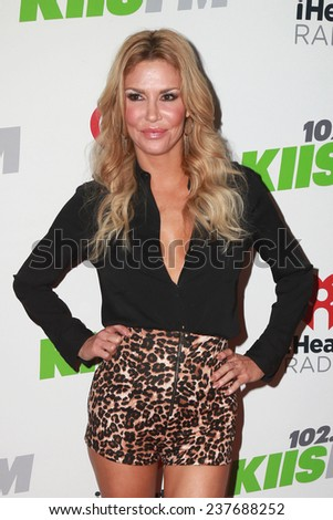 LOS ANGELES - DEC 5:  Brandi Glanville at the KIIS FM's Jingle Ball 2014 at the Staples Center on December 5, 2014 in Los Angeles, CA - stock photo