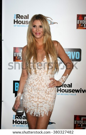 LOS ANGELES - DEC 3: Brandi Glanville at The Real Housewives of Beverly Hills Premiere Red Carpet 2015 at the W Hotel Hollywood on December 3, 2015 in Los Angeles, CA - stock photo