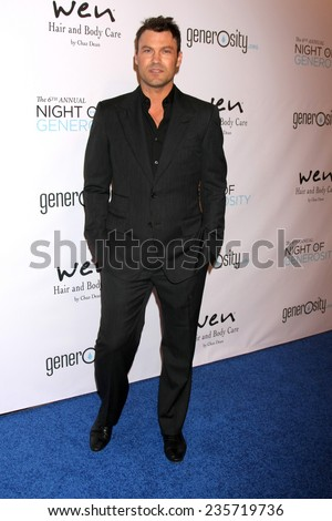 LOS ANGELES - DEC 5:  Brian Austin Green at the 6th Annual Night Of Generosity at the Beverly Wilshire Hotel on December 5, 2014 in Beverly Hills, CA - stock photo