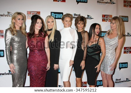 LOS ANGELES - DEC 3:  Cast at theThe Real Housewives of Beverly Hills Premiere Red Carpet 2015 at the W Hotel Hollywood on December 3, 2015 in Los Angeles, CA - stock photo