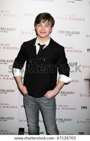 LOS ANGELES - DEC 12:  Chris Colfer arrives at the 2010 Hollywood Style Awards at Billy Wilder Theater at the Hammer Museum on December 12, 2010 in Westwood, CA.