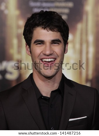 "LOS ANGELES - DEC 05:  DARREN CRISS arriving to ""New Year's Eve"" World Premiere  on December 5, 2011 in Hollywood, CA"