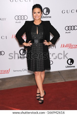 LOS ANGELES - DEC11:  Demi Lovato arrive to Women in Entertainment Breakfast 2013  on December 11, 2013 in Hollywood, CA                 - stock photo