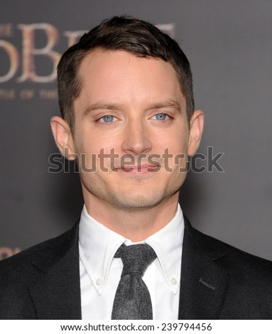 "LOS ANGELES - DEC 09:  Elijah Wood arrives to the ""The Hobbit: The Battle Of The Five Armies"" Los Angeles Premiere  on December 9, 2014 in Hollywood, CA                 - stock photo"