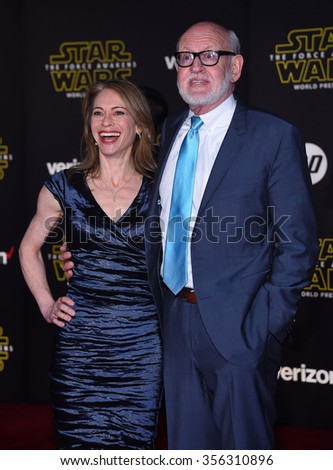 """LOS ANGELES - DEC 14:  Frank Oz arrives to the """"Star Wars: The Force Awakens"""" World Premiere  on December 14, 2015 in Hollywood, CA.                 - stock photo"""