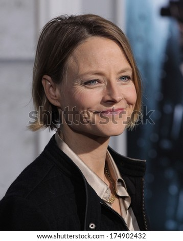 "LOS ANGELES - DEC 06:  JODIE FOSTER arrives to the ""Sherlock Holmes A Game of Shadows"" Los Angeles Premiere  on December 06, 2011 in Westwood, CA                 - stock photo"