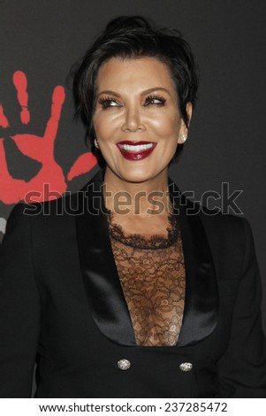 LOS ANGELES - DEC 11:  Kris Jenner at the Rihanna's First Annual Diamond Ball at the The Vineyard on December 11, 2014 in Beverly Hills, CA - stock photo