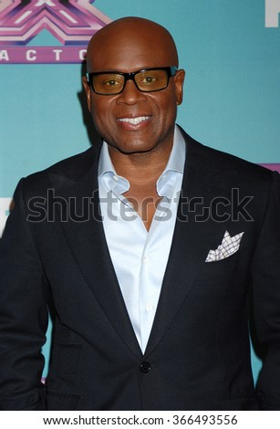LOS ANGELES - DEC 19 - L.A. Reid arrives at the X Factor 2012 Season Finale Day 1  on December 19, 2012 in Los Angeles, CA              - stock photo