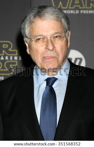 LOS ANGELES - DEC 14:  Lawrence Kasden at the Star Wars: The Force Awakens World Premiere at the Hollywood & Highland on December 14, 2015 in Los Angeles, CA - stock photo