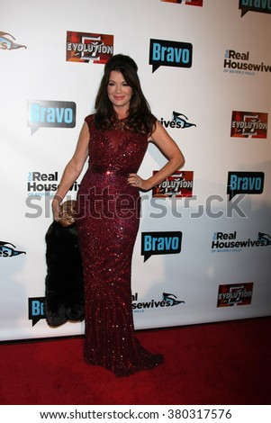 LOS ANGELES - DEC 3:  Lisa Vanderpump at The Real Housewives of Beverly Hills Premiere Red Carpet 2015 at the W Hotel Hollywood on December 3, 2015 in Los Angeles, CA - stock photo