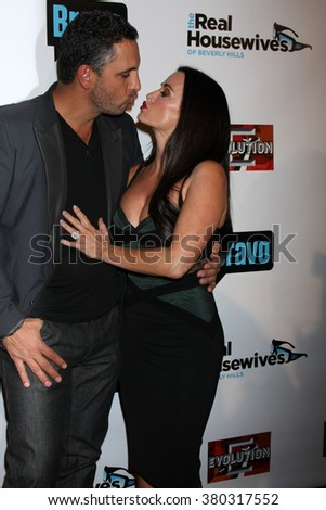 LOS ANGELES - DEC 3:  Mauricio Umansky, Kyle Richards at The Real Housewives of Beverly Hills Premiere Red Carpet 2015 at the W Hotel Hollywood on December 3, 2015 in Los Angeles, CA - stock photo