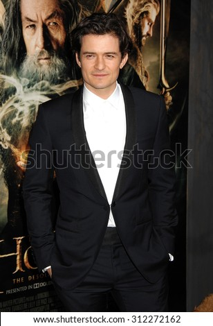 LOS ANGELES - DEC 2:  Orlando Bloom arrives at the The Hobbit The Desolation Of Smaug Los Angeles Premiere  on December 2, 2013 in Los Angeles, CA                 - stock photo