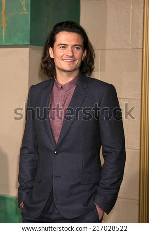 "LOS ANGELES - DEC 9:  Orlando Bloom at the ""The Hobbit: The Battle of the Five Armies"" Los Angeles Premiere at the Dolby Theater on December 9, 2014 in Los Angeles, CA - stock photo"