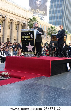 LOS ANGELES - DEC 8:  Peter Jackson at the Peter Jackson Hollywood Walk of Fame Ceremony at the Dolby Theater on December 8, 2014 in Los Angeles, CA - stock photo