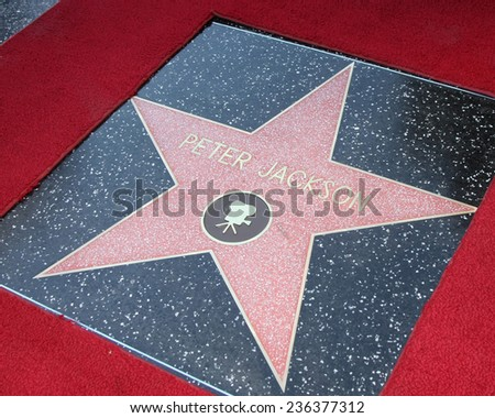 LOS ANGELES - DEC 8:  Peter Jackson Star at the Peter Jackson Hollywood Walk of Fame Ceremony at the Dolby Theater on December 8, 2014 in Los Angeles, CA - stock photo
