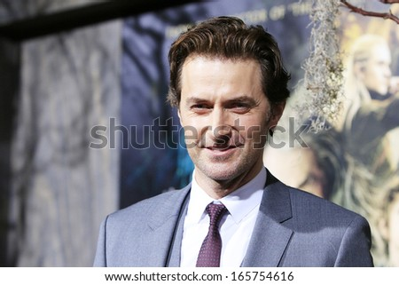 LOS ANGELES - DEC 2: Richard Armitage at the premiere of Warner Bros' 'The Hobbit: The Desolation of Smaug' at the Dolby Theater on December 2, 2013 in Los Angeles, CA - stock photo