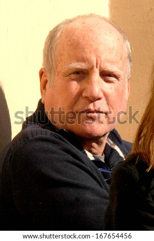 LOS ANGELES - DEC 13:  Richard Dreyfuss at the Paul Mazursky Star on the Hollywood Walk of Fame Ceremony at Hollywood Blvd on December 13, 2013 in Los Angeles, CA - stock photo