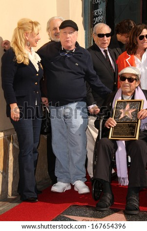 LOS ANGELES - DEC 13:  Richard Dreyfuss, Paul Mazursky at the Paul Mazursky Star on the Hollywood Walk of Fame Ceremony at Hollywood Blvd on December 13, 2013 in Los Angeles, CA - stock photo