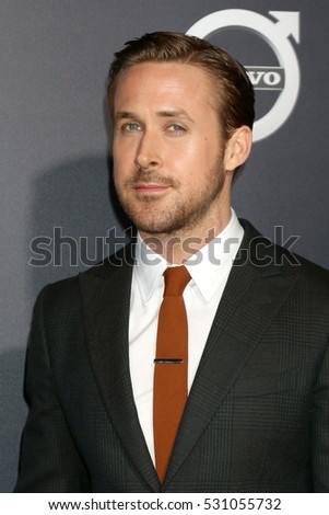 "LOS ANGELES - DEC 6:  Ryan Gosling at the ""La LA Land"" World Premiere at Village Theater on December 6, 2016 in Westwood, CA"