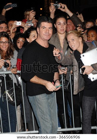 LOS ANGELES - DEC 6 - Simon Cowell arrives at the X Factor Viewing Party  on December 6, 2012 in Los Angeles, CA              - stock photo