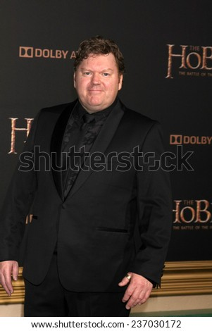 """LOS ANGELES - DEC 9:  Stephen Hunter at the """"The Hobbit: The Battle of the Five Armies"""" Los Angeles Premiere at the Dolby Theater on December 9, 2014 in Los Angeles, CA - stock photo"""