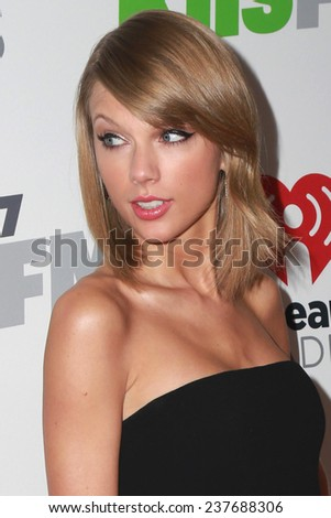 LOS ANGELES - DEC 5:  Taylor Swift at the KIIS FM's Jingle Ball 2014 at the Staples Center on December 5, 2014 in Los Angeles, CA - stock photo