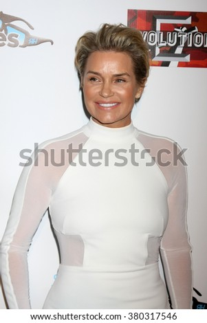 LOS ANGELES - DEC 3:  Yolanda Foster at the The Real Housewives of Beverly Hills Premiere Red Carpet 2015 at the W Hotel Hollywood on December 3, 2015 in Los Angeles, CA - stock photo