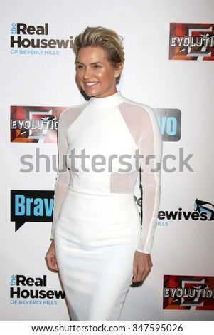 LOS ANGELES - DEC 3:  Yolanda Foster at theThe Real Housewives of Beverly Hills Premiere Red Carpet 2015 at the W Hotel Hollywood on December 3, 2015 in Los Angeles, CA - stock photo