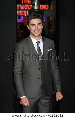 "LOS ANGELES - DEC 5:  Zac Efron arrives at the ""New Year's Eve"" World Premiere at Graumans Chinese Theater on December 5, 2011 in Los Angeles, CA - stock photo"