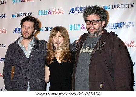 "LOS ANGELES - FEB 25:  Adam Brody, Lisa Joyce, Neil LaBute at the ""Billy & Billie"" Premiere Screening of DirecTV's Series at  The Lot on February 25, 2015 in Los Angeles, CA - stock photo"