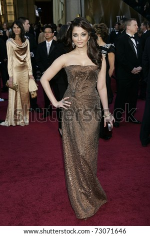LOS ANGELES - FEB 27:  Aishwarya Rai arrives at the 83rd Annual Academy Awards - Oscars at the Kodak Theater on February 27, 2011 in Los Angeles, CA. - stock photo