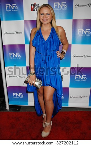 LOS ANGELES - FEB 8 - Ali Simpson arrives at the 16th Annual Friends N Family Pre Grammy Party on February 8, 2013 in Los Angeles, CA              - stock photo