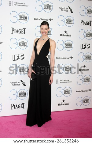 LOS ANGELES - FEB 21:  Alizee Gaillard at the 30th Film Independent Spirit Awards at a tent on the beach on February 21, 2015 in Santa Monica, CA - stock photo