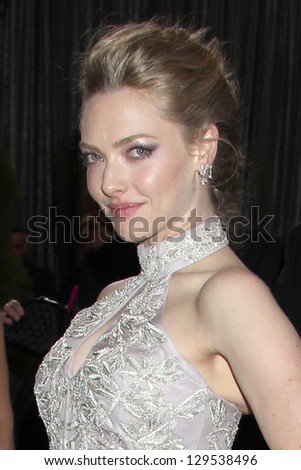LOS ANGELES - FEB 24:  Amanda Seyfried arrives at the 85th Academy Awards presenting the Oscars at the Dolby Theater on February 24, 2013 in Los Angeles, CA - stock photo