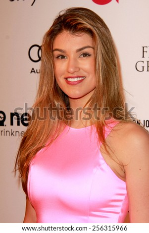 LOS ANGELES - FEB 22:  Amy Willerton at the Elton John Oscar Party 2015 at the City Of West Hollywood Park on February 22, 2015 in West Hollywood, CA - stock photo