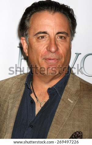"LOS ANGELES - FEB 13:  Andy Garcia at the ""Brotherly Love"" LA Premiere at the Silver Screen Theater at the Pacific Design Center on April 13, 2015 in West Hollywood, CA - stock photo"