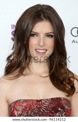 LOS ANGELES - FEB 25:  Anna Kendrick arrives at the 2012 Film Independent Spirit Awards at the Beach on February 25, 2012 in Santa Monica, CA - stock photo
