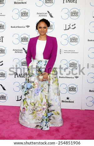 LOS ANGELES - FEB 21:  Ava DuVernay at the 30th Film Independent Spirit Awards at a tent on the beach on February 21, 2015 in Santa Monica, CA - stock photo