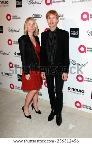 LOS ANGELES - FEB 22:  Beck at the Elton John Oscar Party 2015 at the City Of West Hollywood Park on February 22, 2015 in West Hollywood, CA - stock photo