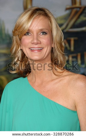 LOS ANGELES - FEB 13 - Beth Littleford arrives at the Oz The Great and Powerful World Premiere on February 13, 2013 in Los Angeles, CA              - stock photo
