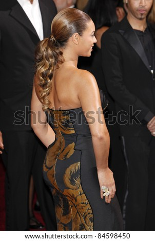 LOS ANGELES - FEB 22: Beyonce at the 81st Annual Academy Awards - Oscar Arrivals in Los Angeles, California on February 22, 2009 - stock photo