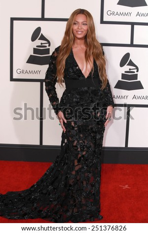LOS ANGELES - FEB 8:  Beyonce Knowles at the 57th Annual GRAMMY Awards Arrivals at a Staples Center on February 8, 2015 in Los Angeles, CA - stock photo