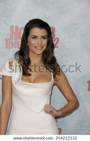 LOS ANGELES - FEB 18: Bianca Haase at the 'Hot Tub Time Machine 2' premiere on February 18, 2014 in Los Angeles, California - stock photo