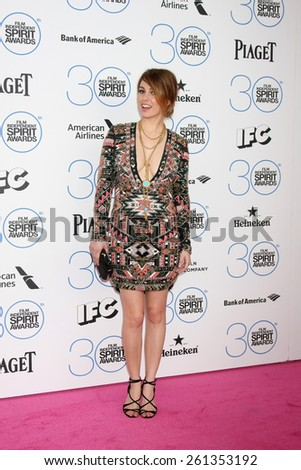LOS ANGELES - FEB 21:  Blanca Suarez at the 30th Film Independent Spirit Awards at a tent on the beach on February 21, 2015 in Santa Monica, CA - stock photo