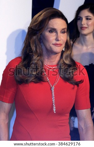 LOS ANGELES - FEB 28:  Caitlyn Jenner at the 2016 Vanity Fair Oscar Party at the Wallis Annenberg Center for the Performing Arts on February 28, 2016 in Beverly Hills, CA - stock photo